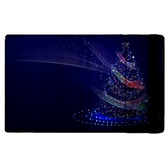 Christmas Tree Blue Stars Starry Night Lights Festive Elegant Apple Ipad 3/4 Flip Case by yoursparklingshop