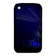 Christmas Tree Blue Stars Starry Night Lights Festive Elegant Iphone 3s/3gs by yoursparklingshop
