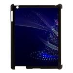 Christmas Tree Blue Stars Starry Night Lights Festive Elegant Apple iPad 3/4 Case (Black)