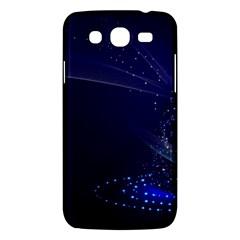 Christmas Tree Blue Stars Starry Night Lights Festive Elegant Samsung Galaxy Mega 5 8 I9152 Hardshell Case  by yoursparklingshop