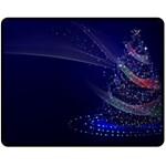 Christmas Tree Blue Stars Starry Night Lights Festive Elegant Double Sided Fleece Blanket (Medium)