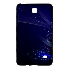 Christmas Tree Blue Stars Starry Night Lights Festive Elegant Samsung Galaxy Tab 4 (8 ) Hardshell Case  by yoursparklingshop