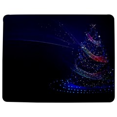 Christmas Tree Blue Stars Starry Night Lights Festive Elegant Jigsaw Puzzle Photo Stand (rectangular) by yoursparklingshop