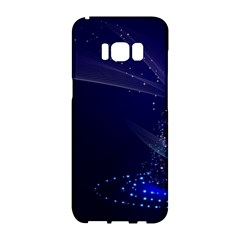 Christmas Tree Blue Stars Starry Night Lights Festive Elegant Samsung Galaxy S8 Hardshell Case  by yoursparklingshop
