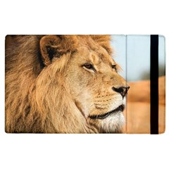 Big Male Lion Looking Right Apple Ipad 3/4 Flip Case by Ucco