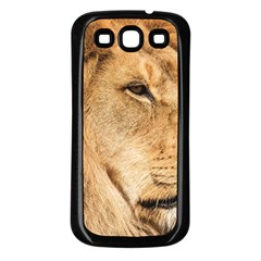 Big Male Lion Looking Right Samsung Galaxy S3 Back Case (black)