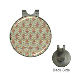 Hexagon Tile Pattern 2 Hat Clips With Golf Markers by Cveti