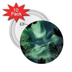Northern Lights In The Forest 2 25  Buttons (10 Pack)  by Ucco