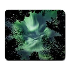 Northern Lights In The Forest Large Mousepads by Ucco
