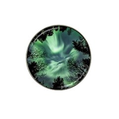 Northern Lights In The Forest Hat Clip Ball Marker by Ucco