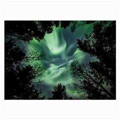 Northern Lights In The Forest Large Glasses Cloth by Ucco