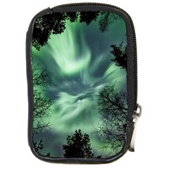 Northern Lights In The Forest Compact Camera Cases by Ucco