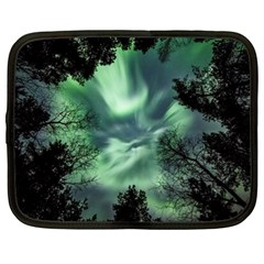 Northern Lights In The Forest Netbook Case (xl)  by Ucco
