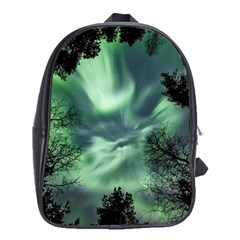 Northern Lights In The Forest School Bag (large) by Ucco