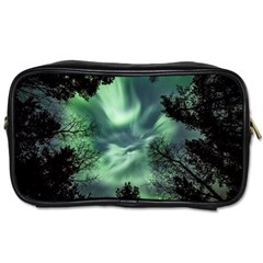 Northern Lights In The Forest Toiletries Bags