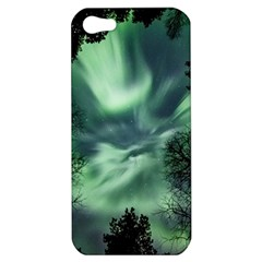 Northern Lights In The Forest Apple Iphone 5 Hardshell Case by Ucco