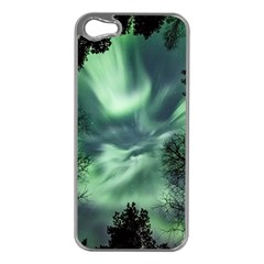 Northern Lights In The Forest Apple Iphone 5 Case (silver) by Ucco