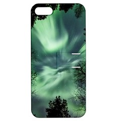 Northern Lights In The Forest Apple Iphone 5 Hardshell Case With Stand by Ucco