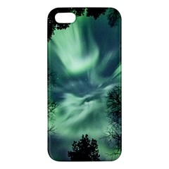 Northern Lights In The Forest Apple Iphone 5 Premium Hardshell Case by Ucco