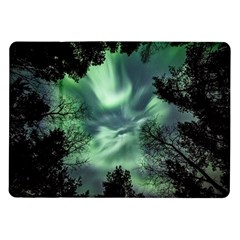Northern Lights In The Forest Samsung Galaxy Tab 10 1  P7500 Flip Case by Ucco