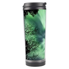 Northern Lights In The Forest Travel Tumbler by Ucco