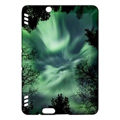 Northern Lights In The Forest Kindle Fire Hdx Hardshell Case by Ucco
