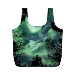 Northern Lights In The Forest Full Print Recycle Bags (m)  by Ucco