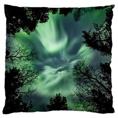 Northern Lights In The Forest Standard Flano Cushion Case (one Side) by Ucco