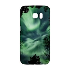 Northern Lights In The Forest Galaxy S6 Edge by Ucco