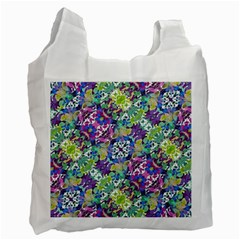 Colorful Modern Floral Print Recycle Bag (one Side) by dflcprints