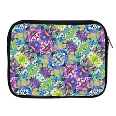 Colorful Modern Floral Print Apple Ipad 2/3/4 Zipper Cases by dflcprints