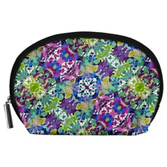 Colorful Modern Floral Print Accessory Pouches (large)  by dflcprints