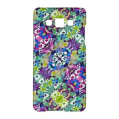 Colorful Modern Floral Print Samsung Galaxy A5 Hardshell Case  by dflcprints