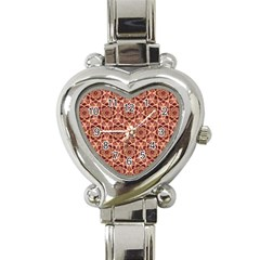 Flower Star Pattern  Heart Italian Charm Watch by Cveti