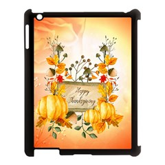 Happy Thanksgiving With Pumpkin Apple Ipad 3/4 Case (black) by FantasyWorld7