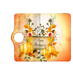 Happy Thanksgiving With Pumpkin Kindle Fire Hdx 8 9  Flip 360 Case by FantasyWorld7