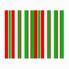 Christmas Holiday Stripes Red Small Glasses Cloth by Celenk