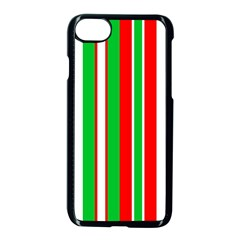 Christmas Holiday Stripes Red Apple Iphone 8 Seamless Case (black) by Celenk