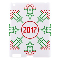 Snowflake Graphics Date Year Apple Ipad 3/4 Hardshell Case by Celenk