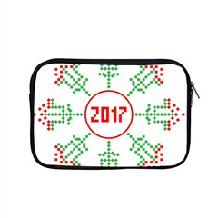 Snowflake Graphics Date Year Apple Macbook Pro 15  Zipper Case by Celenk