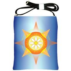 Star Pattern Background Shoulder Sling Bags by Celenk