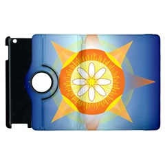 Star Pattern Background Apple Ipad 2 Flip 360 Case by Celenk