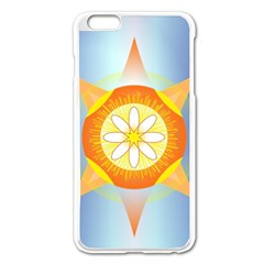 Star Pattern Background Apple Iphone 6 Plus/6s Plus Enamel White Case by Celenk