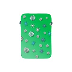 Snowflakes Winter Christmas Overlay Apple Ipad Mini Protective Soft Cases by Celenk