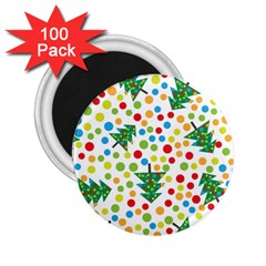 Pattern Circle Multi Color 2 25  Magnets (100 Pack)  by Celenk