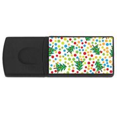 Pattern Circle Multi Color Rectangular Usb Flash Drive by Celenk