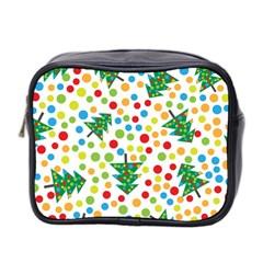 Pattern Circle Multi Color Mini Toiletries Bag 2 Side