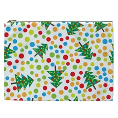 Pattern Circle Multi Color Cosmetic Bag (xxl)  by Celenk