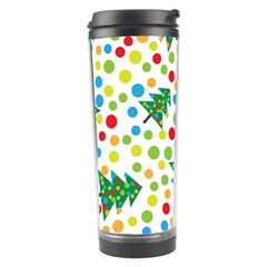 Pattern Circle Multi Color Travel Tumbler by Celenk