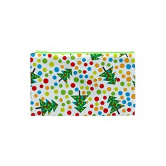 Pattern Circle Multi Color Cosmetic Bag (xs) by Celenk